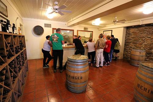 wine tasting at beringer
